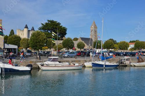Fotografie, Obraz  Noirmoutier Ville, port, château, église et commerces