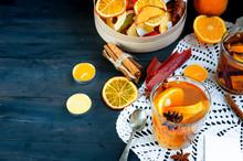 Warming Orange Tea And Dried Fruits