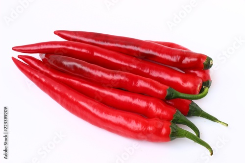 Chili pepper is isolated on a white background