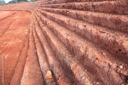 mining of bauxite Canvas Print