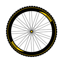 BTT Bike Wheel Illustration