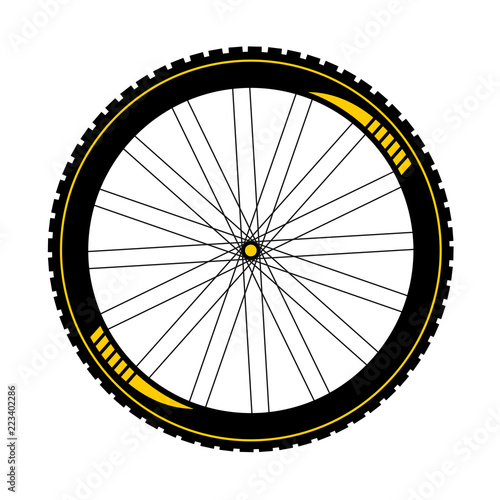 Fototapeta BTT bike wheel illustration obraz