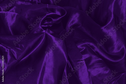 dark purple silk fabric background - 223402821
