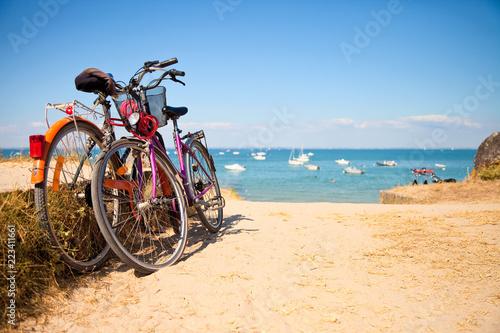 Deurstickers Strand Noirmoutier, Île vendéenne, ses plages et ses vélos
