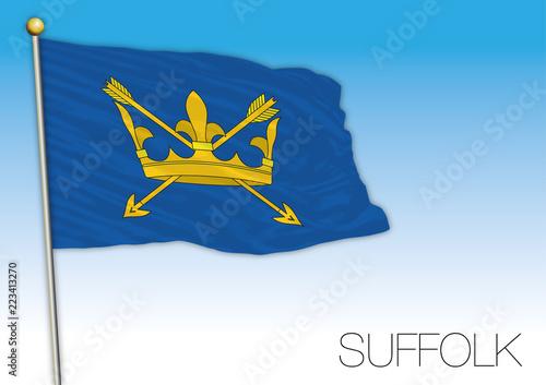 Leinwand Poster Suffolk county flag, United Kingdom, vector illustration