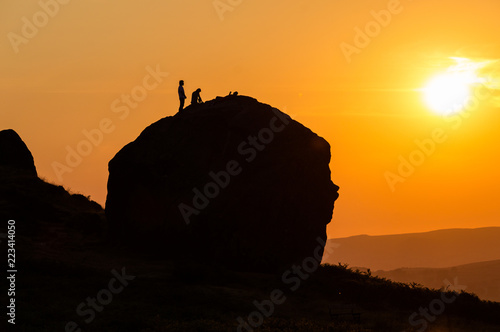 Fotografia  Climbers - Cow and Calf rocks, Ilkley Yorkshire