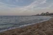 Playa de aro. horizonte marítimo al atardecer de verano.