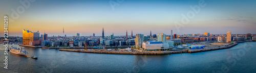 Fotomural Elbphilharmonie und hafencity, Luftaufnahme