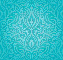 Turquoise Floral Holiday Vinta...