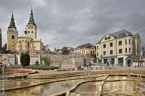 Fotografia Andrej Hlinka square in Zilina. Slovakia
