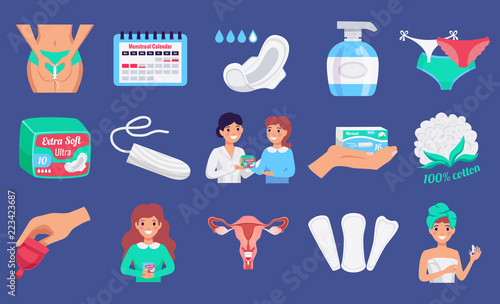 Fotomural Feminine Hygiene Flat Set