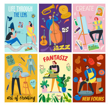 Creative Workers Cards Set