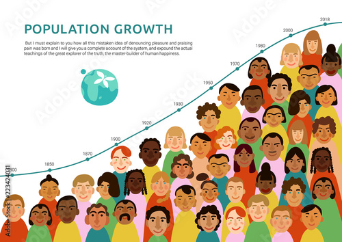 Fototapeta International Human Faces Infographics obraz