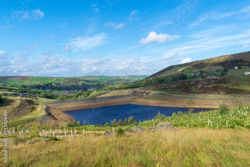 Deurstickers Blauw The Pennine Reservoir