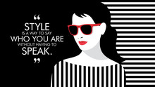Fashion Woman With Quote. Illu...
