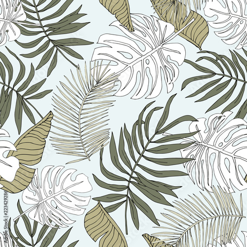 graficzna-liniowa-sylwetka-monstera-liscie-palmowe-z-jasnym-tlem-wektor-wzor-ilustracja-lisci-tropikalnej-dzungli-egzotyczne-ros