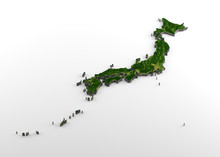 Japan 3D Physical Map With Relief