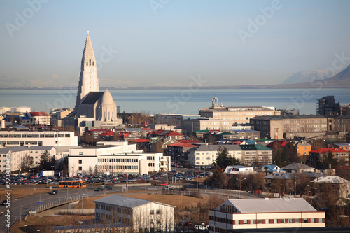 Fotobehang Arctica Reykjavik skyline