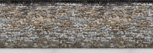 Old Brown  Stone Wall With Part Of The Road Horizontal Seamless Pattern