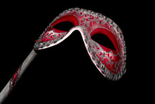 Venetian Masquerade Red And Si...