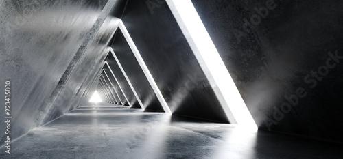 pusty-dlugi-lekki-polerowany-beton-nowoczesne-sci-fi-futurystyczny-trojkatny-ksztalt-korytarz-tunelowy-renderowanie-3d