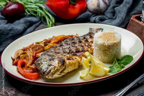 Fotografie, Obraz  Dorado on grill