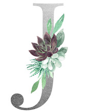 Watercolor Monogram Alphabet L...
