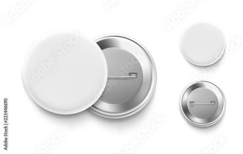 Fotografía  Universal mockup of white badge