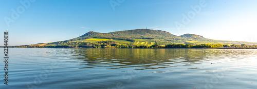 Palava Hills above Nove Mlyny Reservoir on sunny summer day. Palava Protected Landscape Area, Southern Moravia, Czech Republic.