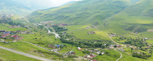 Fiagdon High Mountain Village In Kurtatinskoe Gorge, Republic Of North Ossetia, Russia
