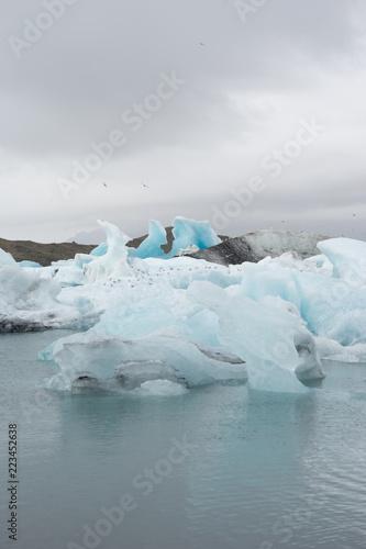 Jökulsárlón Gletscherlagune am Fuß des Vatnajökull, Island