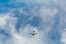 Low Angle View Of Passenger Flying Overhead