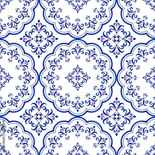 decorative tile pattern design Fototapeta