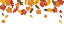 Autumn Leaves Maple Leaf Backg...