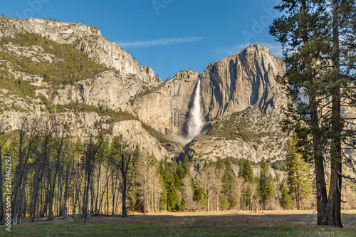 Fotografie, Obraz  Upper Falls in Spring, as Seen from the Meadow, Yosemite