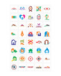 variation mixed real estate image vector icon logo symbol set
