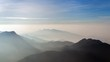 mountains landscape from the peak of Adam at surise, Sri Lanka timelapse