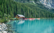Boat House On Lake Louise, Banff, Alberta, Canada