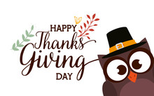 Happy Thanks Giving Card With ...