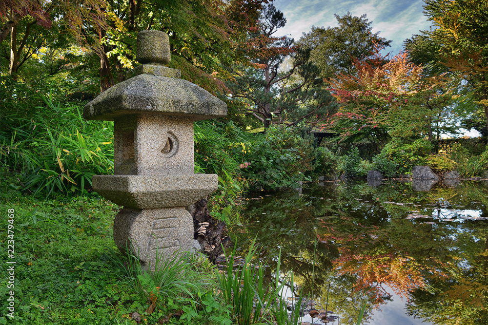Japanischer Garten in München Foto, Poster, Wandbilder bei EuroPosters