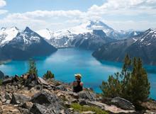 Mountain Blue Lake In British ...