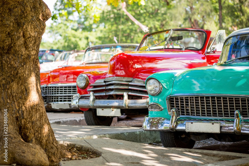 Canvas Prints American Famous Place Classic cars in Havana, Cuba