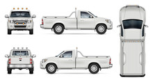 Pickup Truck Vector Mockup On ...