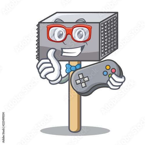 Photo  Gamer wooden meat hammer cartoon for kitchen utensil