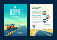 Vector Brochure Template With ...
