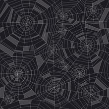 Concept Geometric Spider Web Seamless Pattern