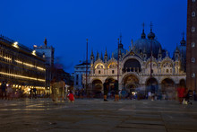 St. Mark's Square - The Most Famous Square In Venice At Night.