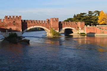 Fototapeta Scorcio Ponte Scaligero Verona