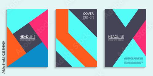 Valokuva  Covers design set with geometric pattern