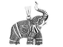 Jewelry Pendant Elephant. Stainless Steel.